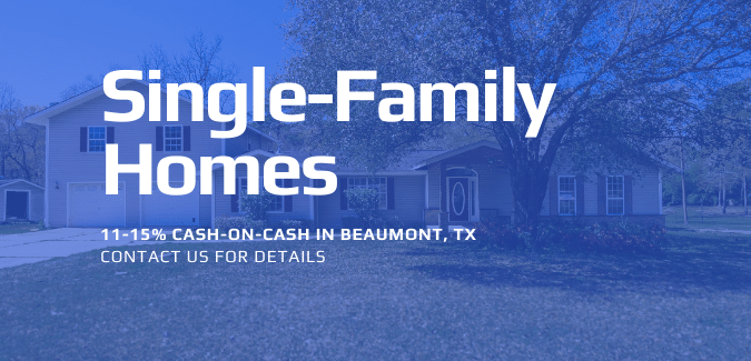 Single-Family Homes in Beamont, TX Cash on Cash