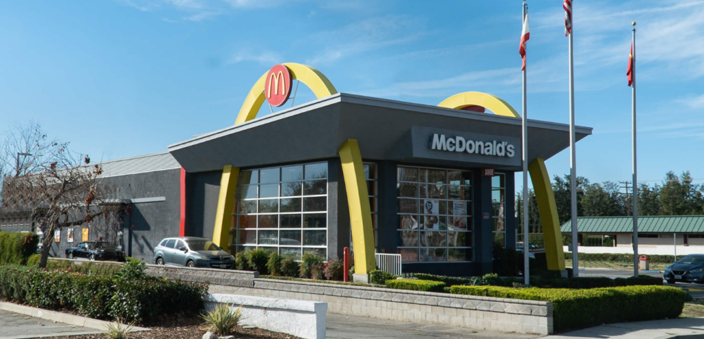 out-front of a california mcdonald